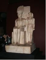 アメン神とツタンカーメン王の像